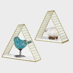 Decorative Triangle Floating Shelves with Natural White Marb
