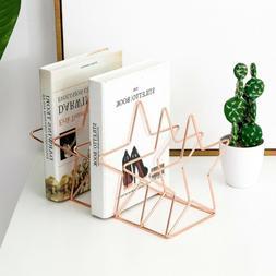 Desktop Bookshelf Star Shape Iron Art Bookstand Stationery S
