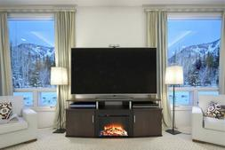 "Electric Fireplace TV Stand 70"" Heating Cherry Furniture Med"