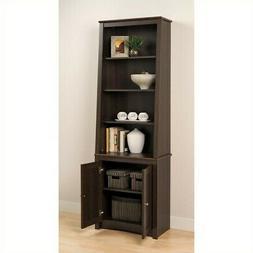 Everett Espresso Slant-back Shaker Door Bookcase