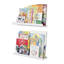 Wallniture Kids Floating Bookshelves - Nursery Room Decor Bo