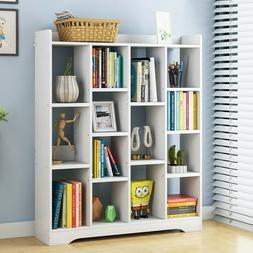 floor shelf wood bookcase storage shelves organizer