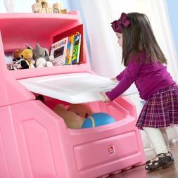 Girls Lift and Hide Bookcase Pink Princess Bedroom Bookshelf