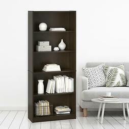 Hayden 5 Shelf Bookcase, Espresso