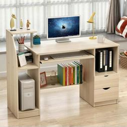 Home Office Computer Desk Bookcase Workstation Study Table C