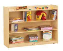 Jonti-Craft Adjustable Mobile Bookcase with Lip