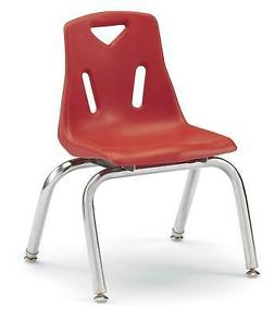 "Jonti-Craft Berries Stacking Chairs Red Set of 6 18"" Seat He"