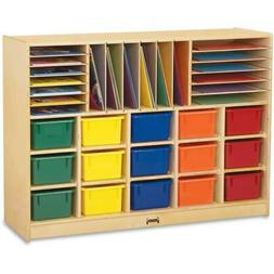 """Jonti-Craft Colored Tray Sectional Cubbie Storage - 35.5"""" He"""