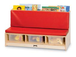Jonti-Craft Corner Literacy Nook Red