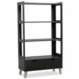 Baxton Studio Kalien Modern & Contemporary Wood Bookcase wit