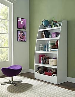Kids 4-shelf Bookcase,9627196,60 X32 X16, White