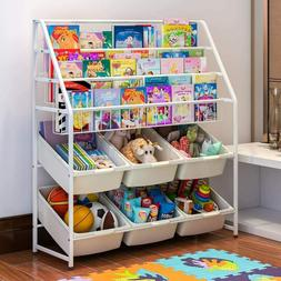 Kids' Bookcases Cabinets and Shelves Storage Shelf in White,