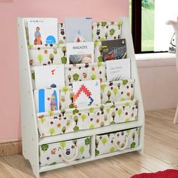 Kids Room Baby Bookshelf Magazine Storage Bookcase Shelf Rac