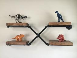 Kids Room Black Pipe Shelf. Made from 1/2 NPT black pipe cle