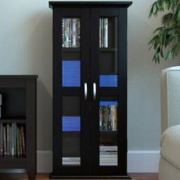 "Ryan Rove Kirkwell 41"" Wood Bookcase Multimedia Organizer"