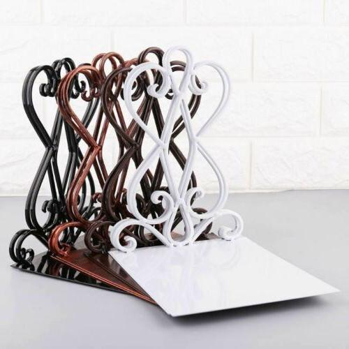 1 pair portable metal bookends book stand