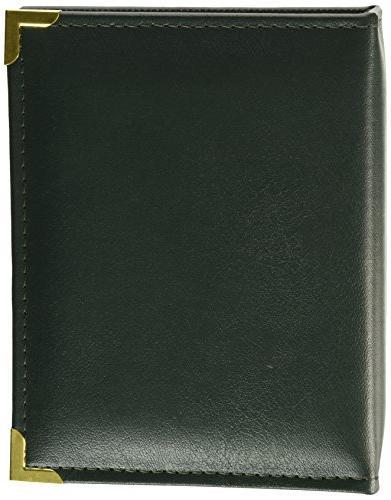 100 pocket green sewn leatherette