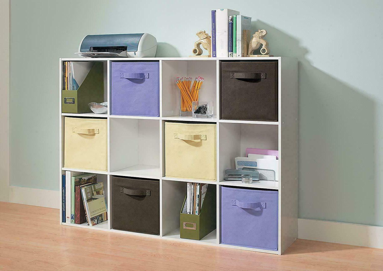 12-Cube Storage Unit Cubby Organizer Display Closet Bookcase