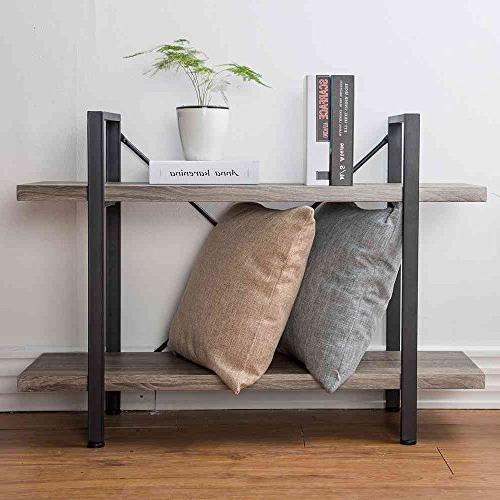 HSH Furniture Storage Bookshelf, Dark Oak
