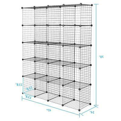 20 Cubes Wire Organizer Cabinet Wardrobe
