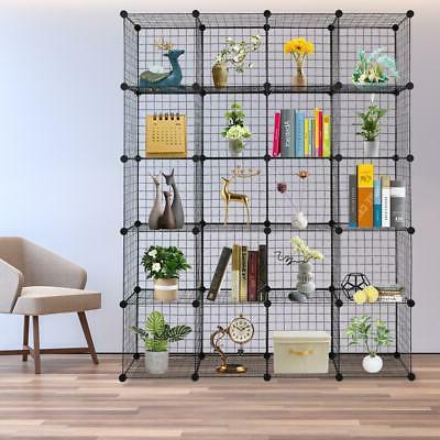 20 cubes wire grid organizer bookcase storage