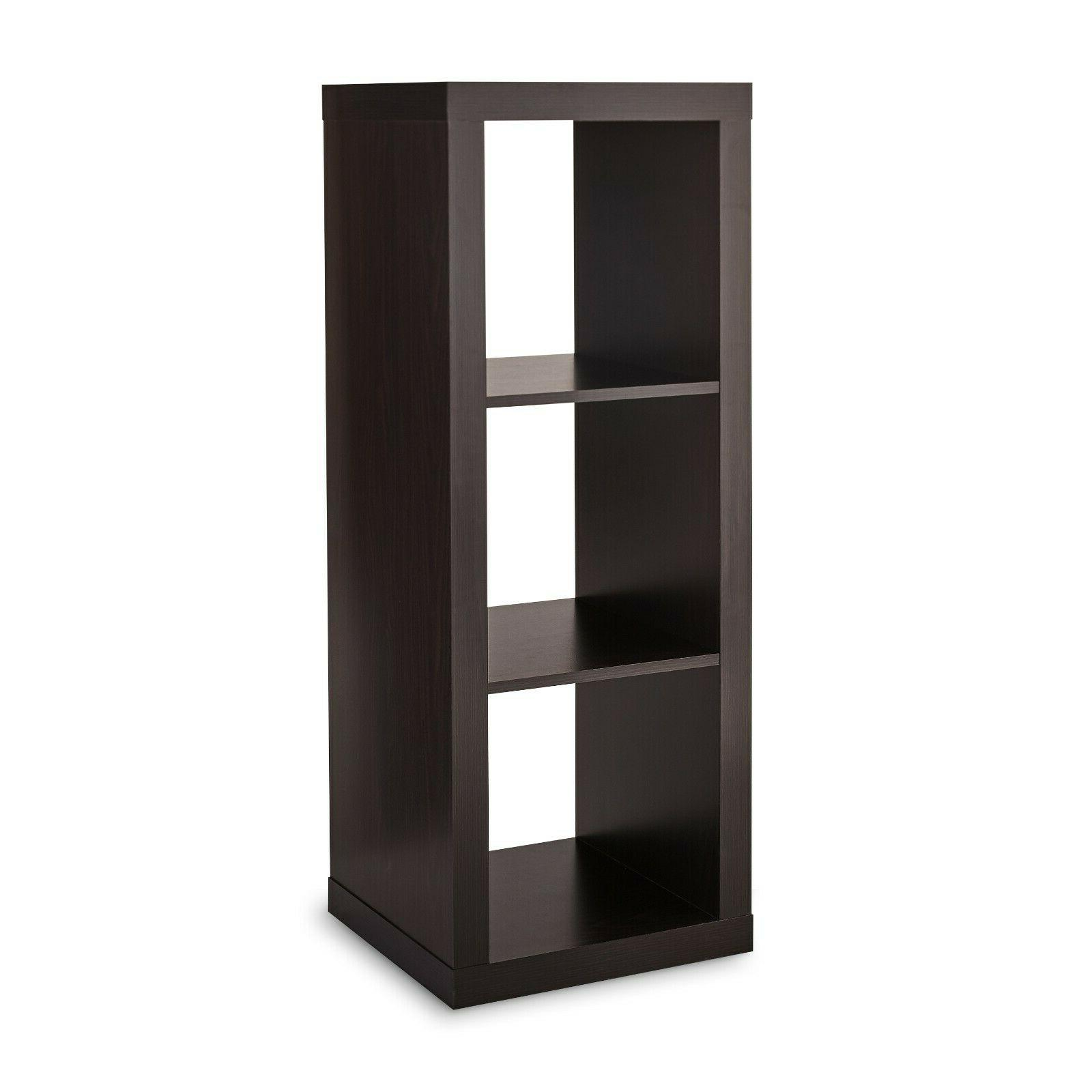 3 cube storage organizer espresso furniture book