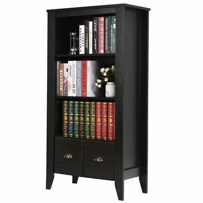 3 Bookcase Adjustable Antique Furni W/2