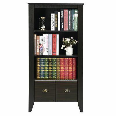 3 Adjustable Shelves Furni W/2 Drawer