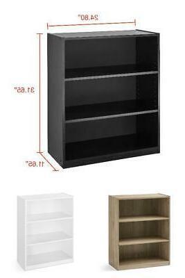 3 shelf wood bookcase book shelves 31