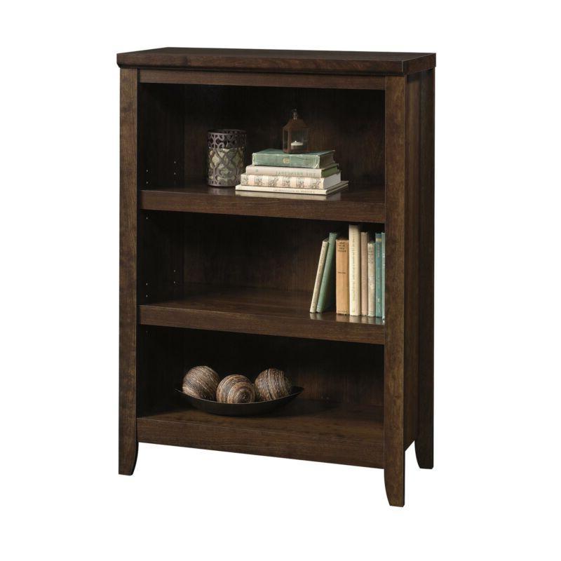 3 shelf wooden bookcase adjustable book shelves