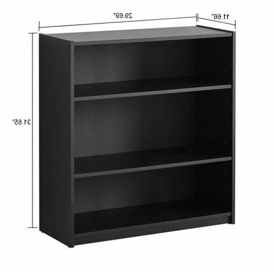 3 Wooden Bookcase Book Bookshelf Shelves