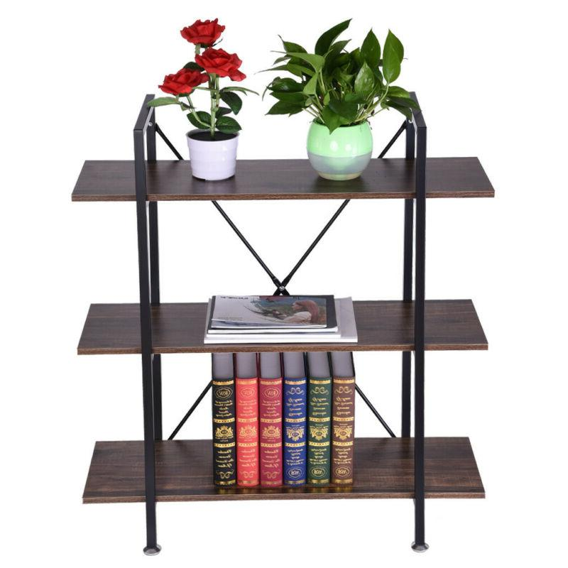 3-Tier Bookcase And Book Wood And