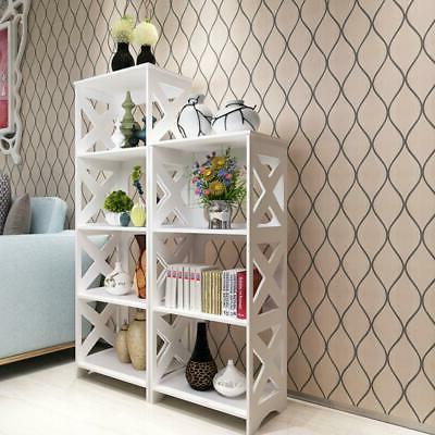 3 Tier Shelf Rack Storage Organizer Bookcase Display WPC Woo