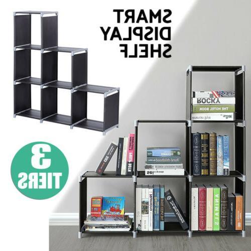 3 tier storage organizer closet 6 cube