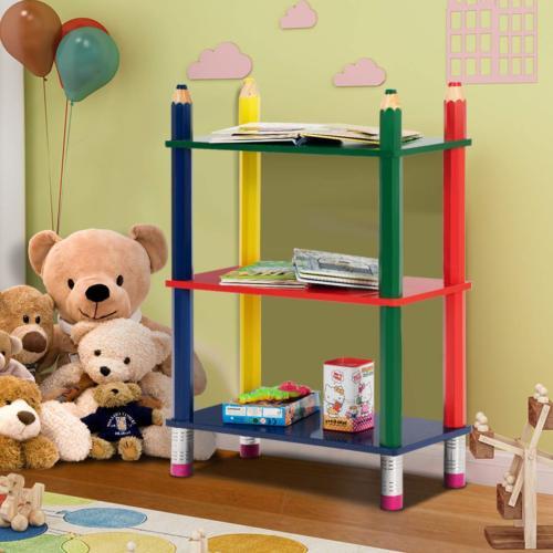 Costzon 3 Tiers Book Shelf Shelf Bookcase for Shelf Fun