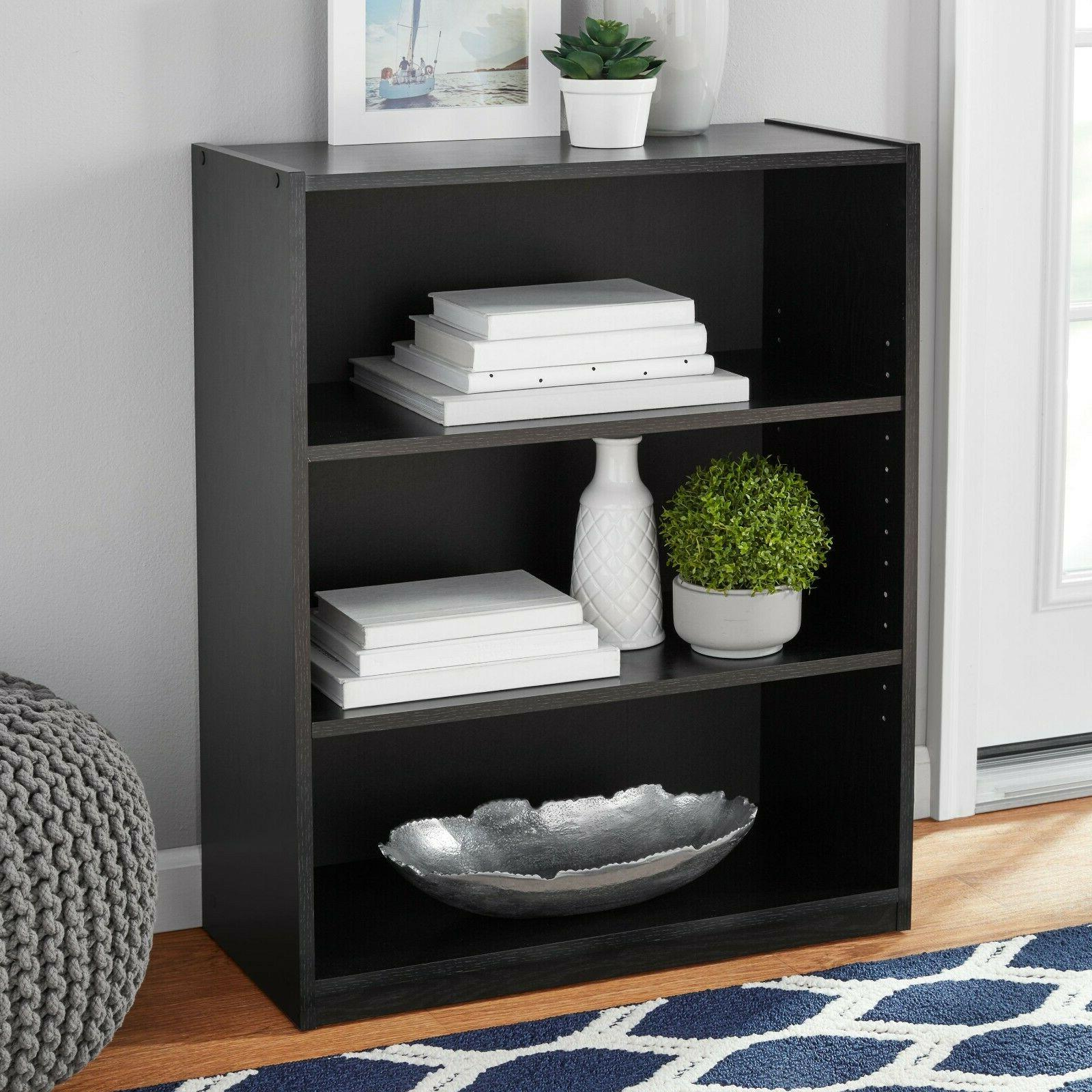 "31"" Tall 3 Wood Storage Book Case Bookshelf"