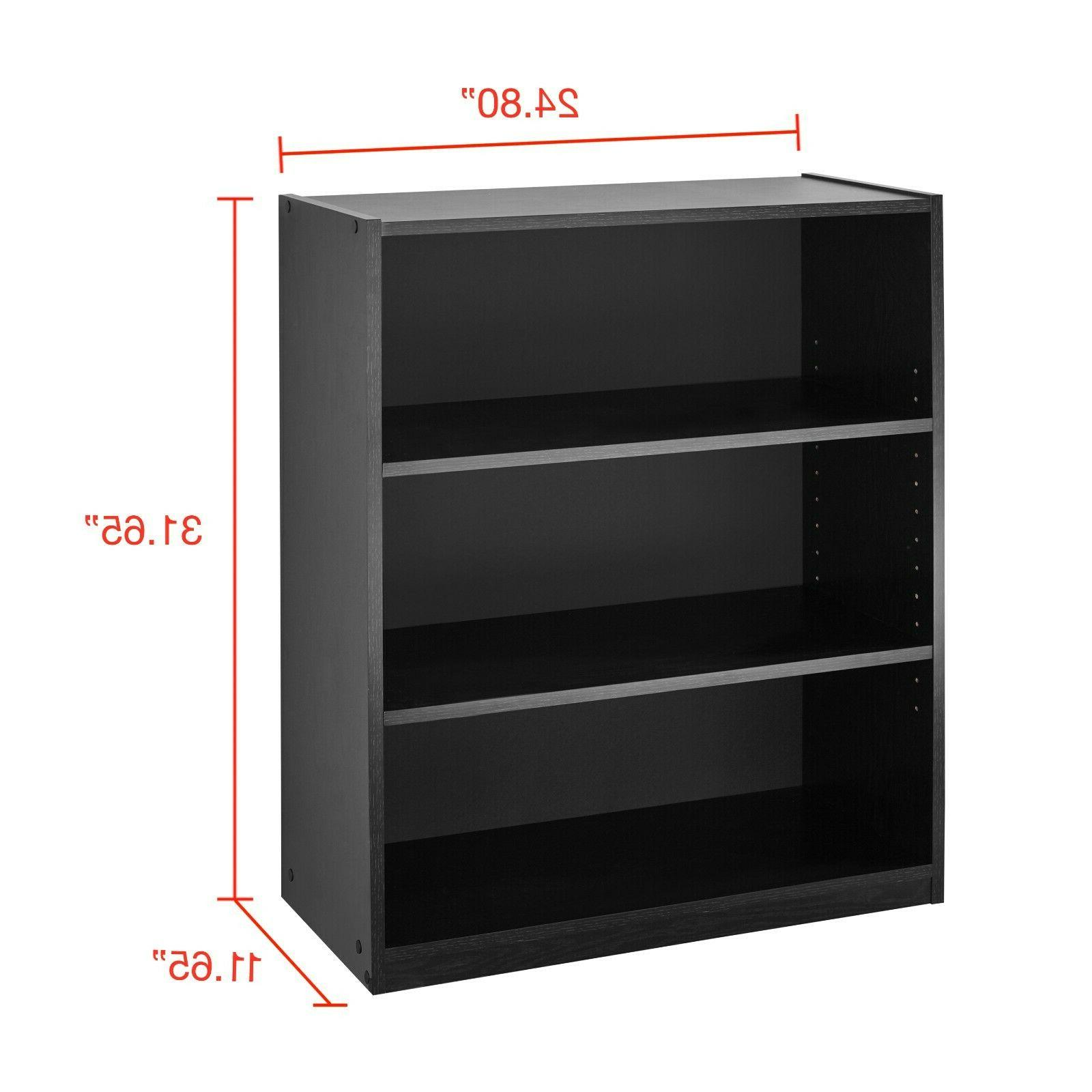 "31"" Shelf Wood Back Storage Shelves Book Bookshelf"