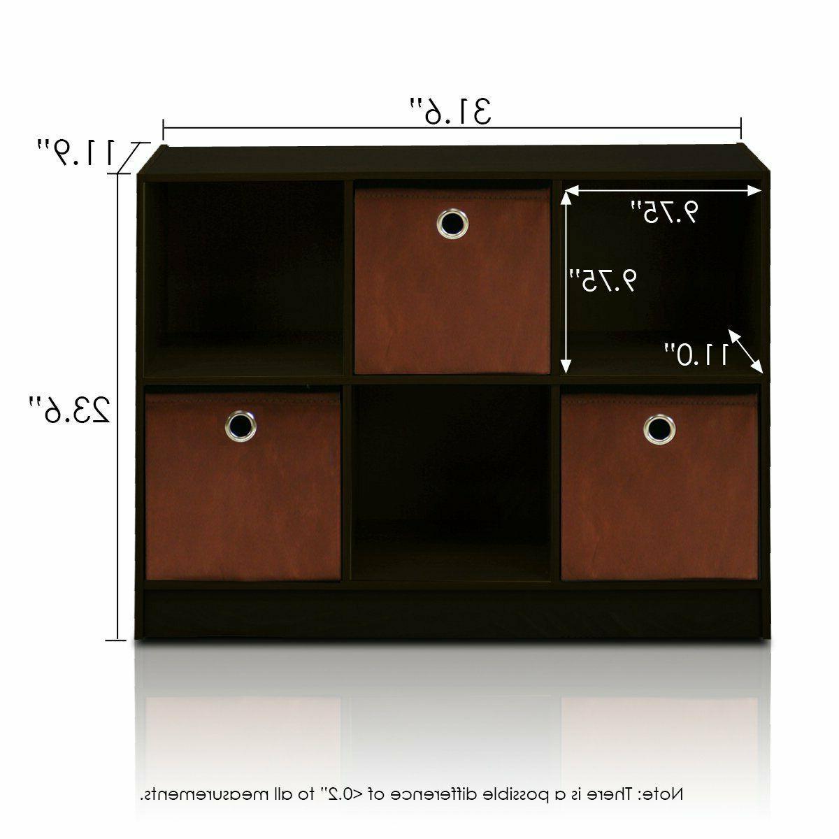 3x2 Storage Bins Organizer Hold