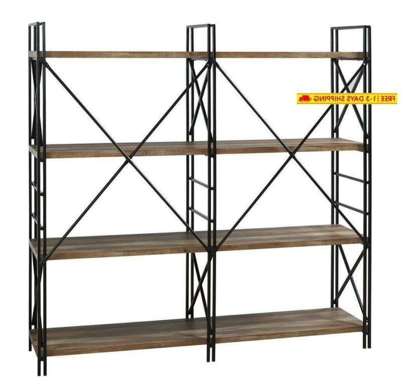 Homissue 4 Shelf Double Shelves, Storage Rack Displ