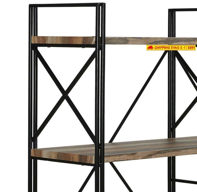 Homissue 4 Double Bookcase And Book Shelves, Storage Rack Displ