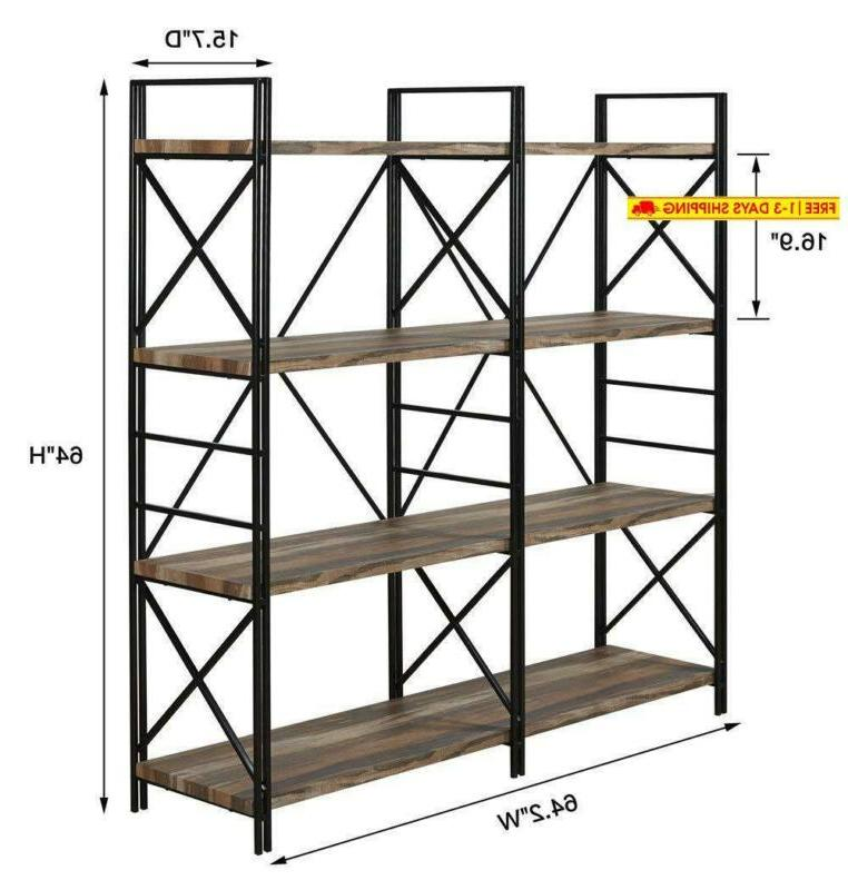 Homissue 4 Double And Book Shelves,