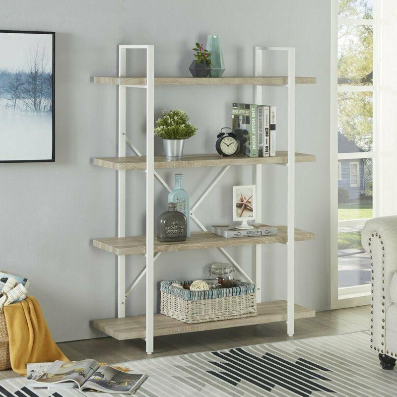 Homissue Modern Bookshelf, Light Oak And