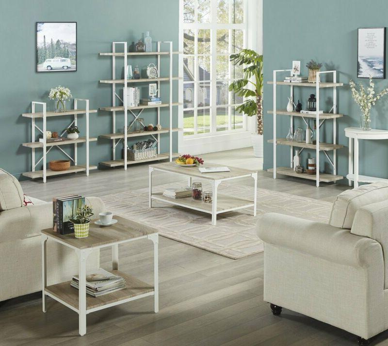 Homissue 4-Shelf Modern Bookshelf, Light Shelves And