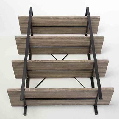 HSH Furniture 4-shelf Vintage Industrial Wood and