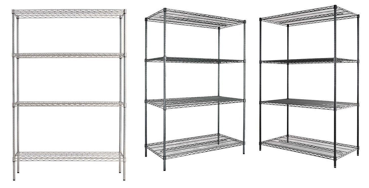 4 shelf wire shelving rack 48 x
