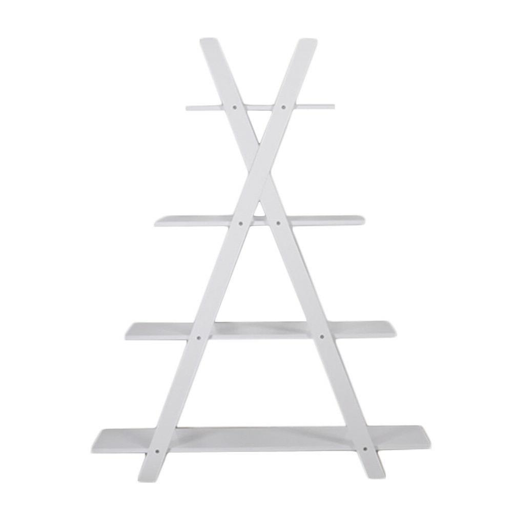4-Tier X Ladder Bookcase MDF