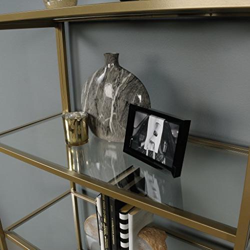 Sauder 421434 International Lux Bookcase, Gold