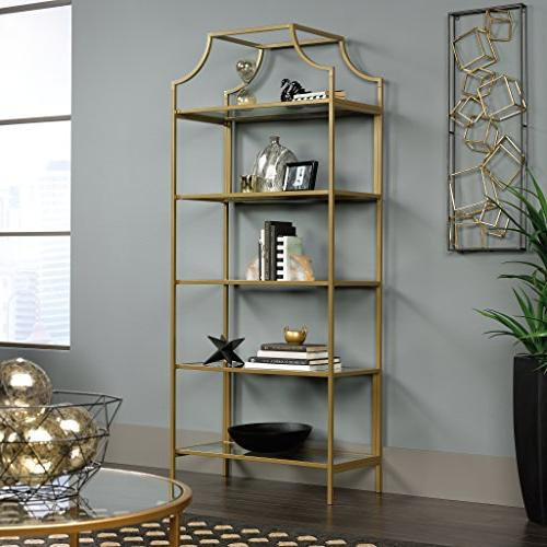 Sauder Bookcase, Satin Gold