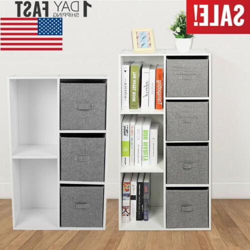 5 7 cubby multifunction shelving bookcase cd