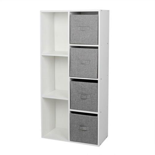 5/7 Bookcase Drawers Bookshelf
